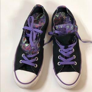 Converse Shoes - Limited addition purple paisley Converse All-Stars
